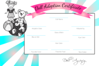 Pinjesse Dudics On Building Bjd Dolls | Adoption within Toy Adoption Certificate Template