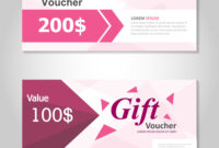 Pink And Gold Gift Voucher Template Layout Design with Pink Gift Certificate Template