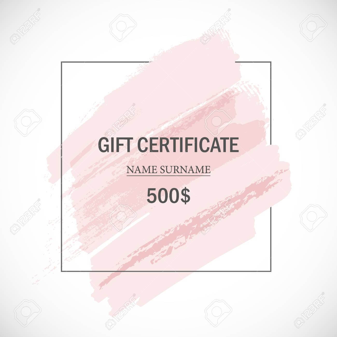 Pink Gift Certificate Template. For Pink Gift Certificate Template