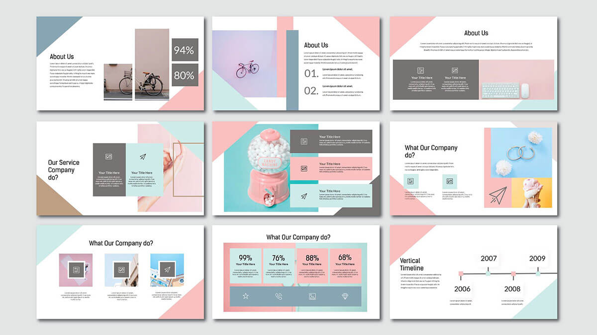 Pink Pastel Free Powerpoint Template Inside Pretty Powerpoint Templates