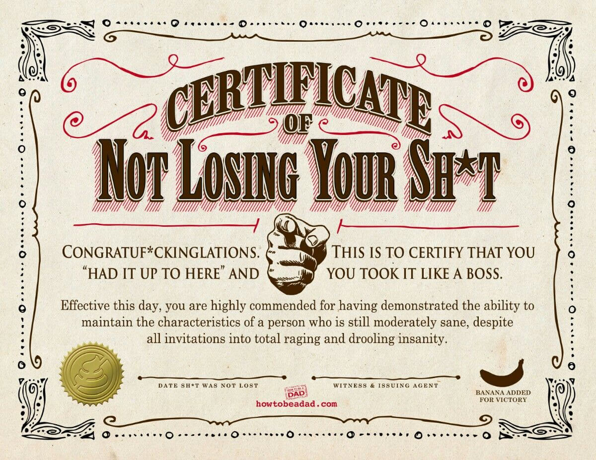 Pinlady Vodka717 On +It's All About Sarcastic Sarcasm+ With Regard To Funny Certificate Templates