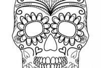 Pinlaura Van Der Merwe On Pictures For Me | Skull inside Blank Sugar Skull Template