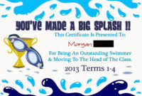 Pinmarwa Mattar On Swimming | Swimming Lessons For Kids with regard to Swimming Award Certificate Template