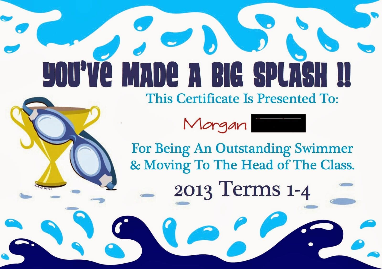 Pinmarwa Mattar On Swimming | Swimming Lessons For Kids With Swimming Certificate Templates Free