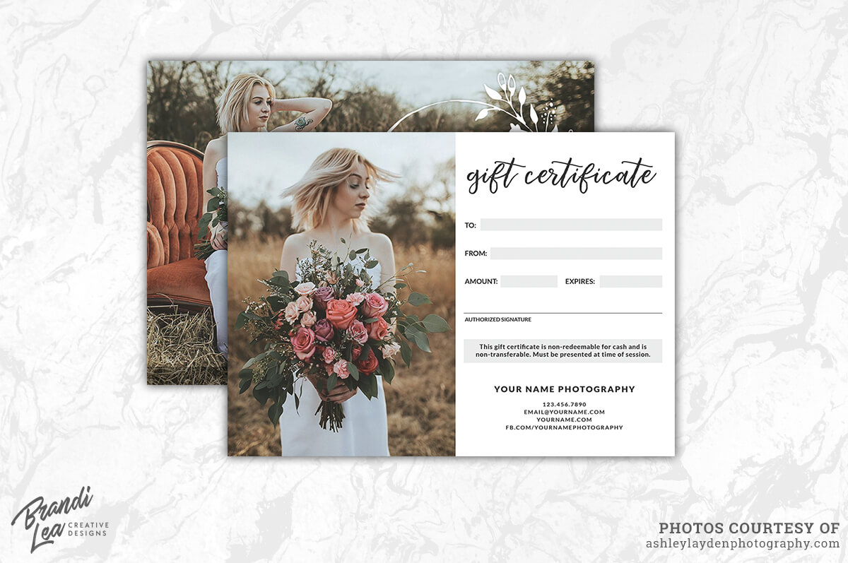 Pinnatalya Spiridonova On Photo: Branding | Gift Regarding Free Photography Gift Certificate Template