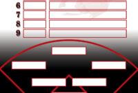 Pinrenee Ray On Baseballstrike One | Baseball Lineup inside Softball Lineup Card Template