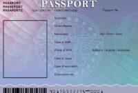Pinrömÿ Çürsë On Passport | Passport Template, Birth in Blank Social Security Card Template