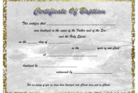 Pinselena Bing-Perry On Certificates | Certificate pertaining to Christian Baptism Certificate Template