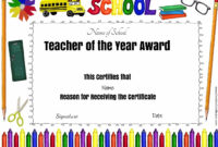 Pintiffany Ehlers On Avary | Teacher Awards, Award with Best Teacher Certificate Templates Free