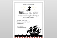 Pirates And Pixies Dance Flyer And Ticket Template Set With Regard To Dance Flyer Template Word