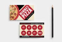 Pizza Restaurant Loyalty Card #templates#menu#template#pack regarding Customer Loyalty Card Template Free