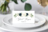 Place Card Template, Escort Card Template, Printable Wedding regarding Place Card Setting Template