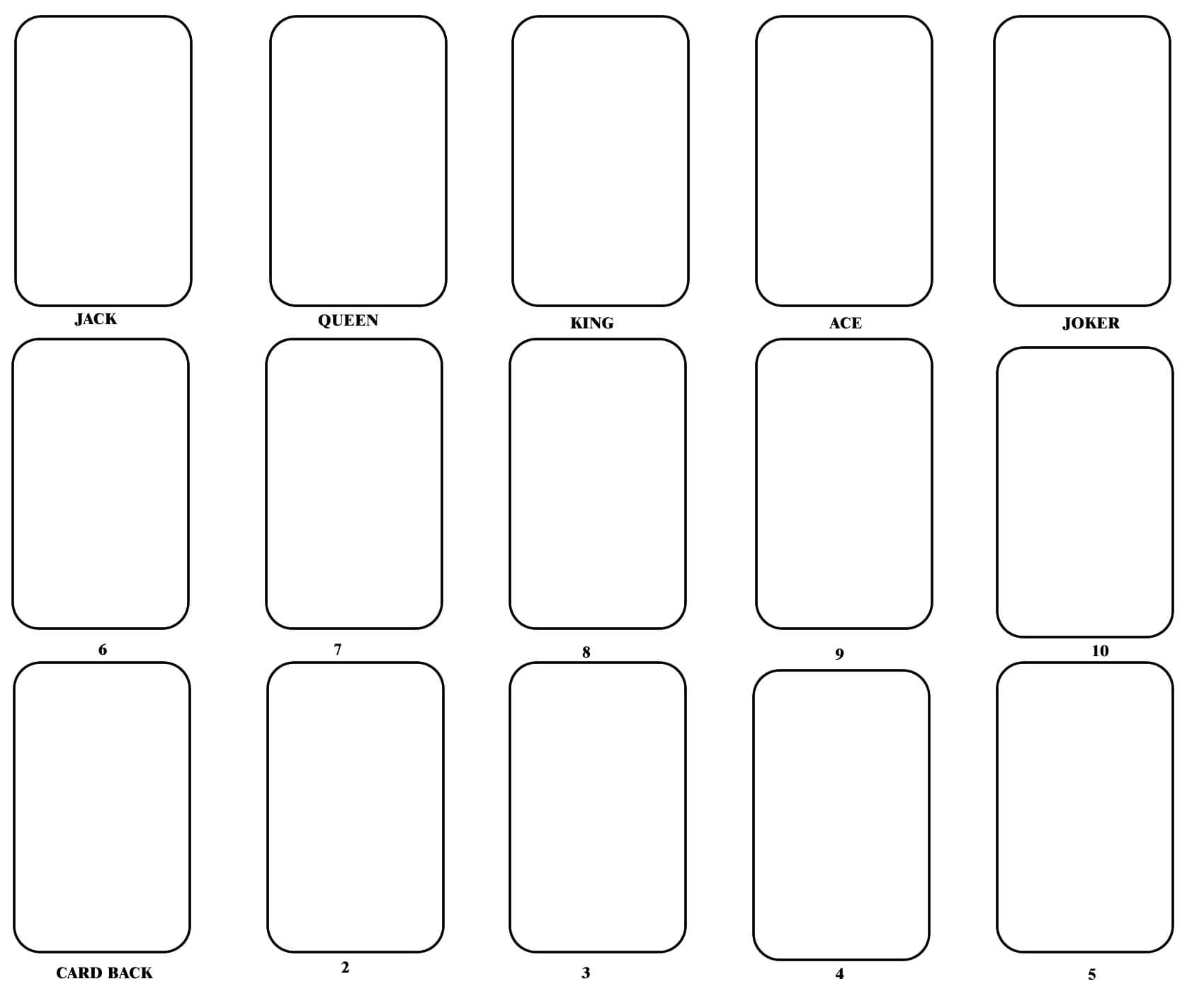 Playing Card Template | Flash Card Template, Blank Playing Intended For Joker Card Template