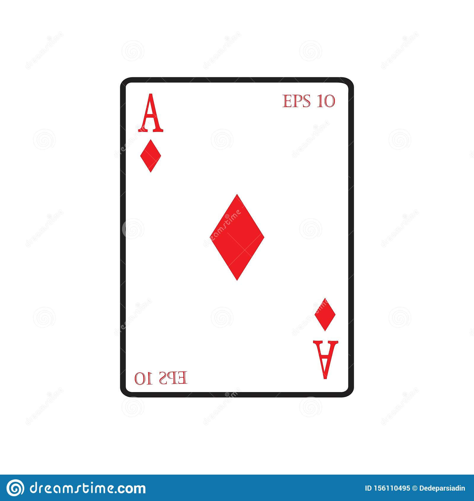Playing Card Vector Icon Illustration Design Stock Vector For Playing Card Design Template