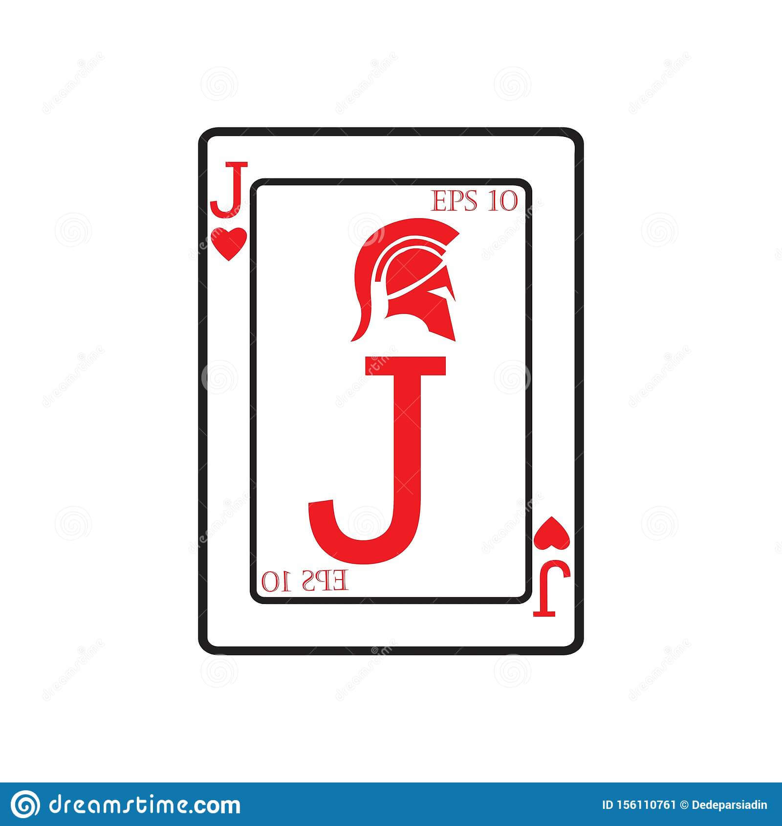 Playing Card Vector Icon Illustration Design Stock Vector Throughout Playing Card Design Template