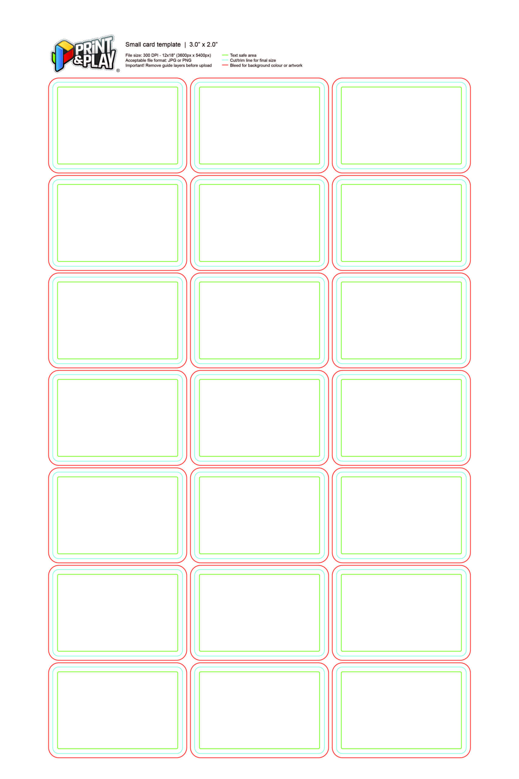 Playing Cards : Formatting & Templates – Print & Play Regarding Template For Game Cards