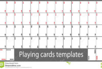 Playing Cards Template Set Stock Vector. Illustration Of regarding Deck Of Cards Template