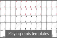 Playing Cards Template Set with Deck Of Cards Template