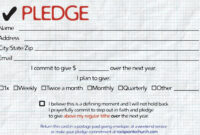 Pledge Cards For Churches | Pledge Card Templates | Card for Donation Cards Template