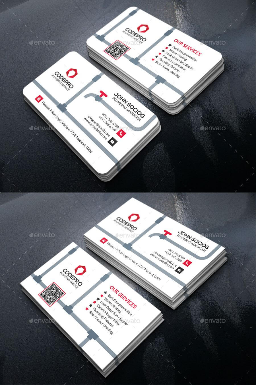 Plumbing Business Card Template Psd | Make Business Cards In Business Card Maker Template
