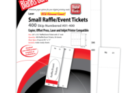 Pm Sku: Lts805B6Wh) – Raffle Tickets, Numbered, White, 2 1/8 intended for Blanks Usa Templates