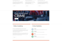 Police Responsive Website Template within Reporting Website Templates