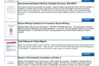 Police Shoplifting Report Writing Template Sample Pages 1 with Police Report Template Pdf