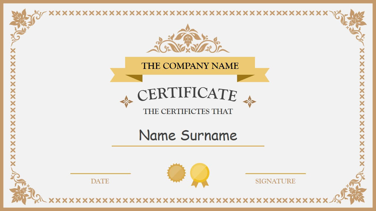 Polished Design Certificate For Powerpoint | Certificate For Powerpoint Award Certificate Template