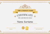 Polished Design Certificate For Powerpoint | Certificate pertaining to Template For Certificate Of Award