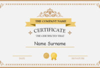 Polished Design Certificate For Powerpoint with regard to Powerpoint Certificate Templates Free Download