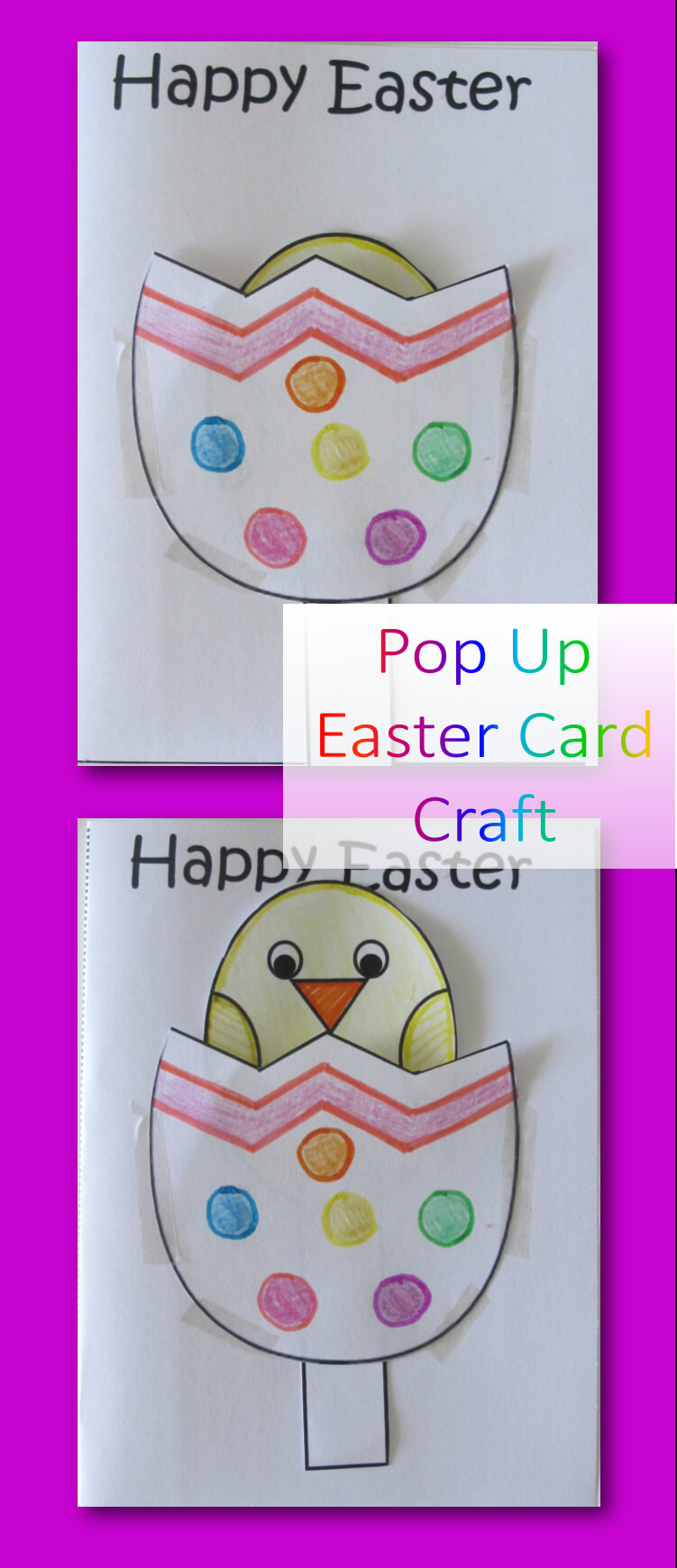 Pop Up Easter Cards Are So Cute And Really Easy To Make With Intended For Easter Card Template Ks2