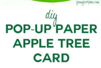 Pop Up Paper Apple Tree Card (3D Sliceform | Pop Up Cards Within Pop Up Tree Card Template