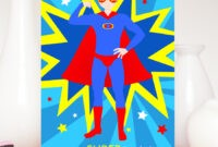 Popular Superhero Birthday Greetings &nu09 intended for Superman Birthday Card Template