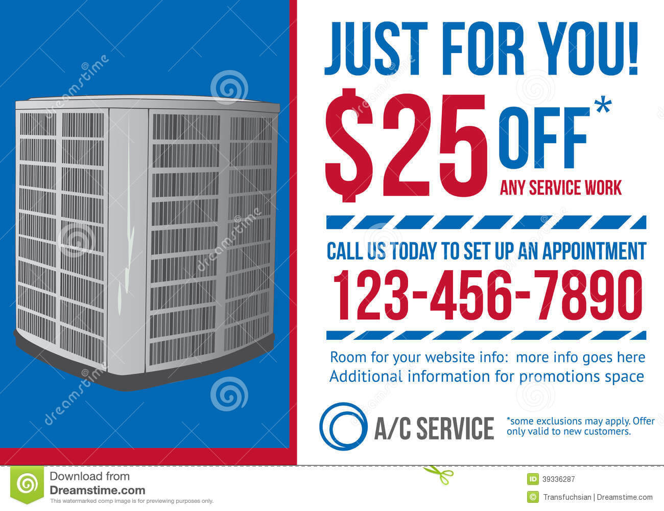 Postcard Advertisement Template For Hvac Company Stock Throughout Hvac Business Card Template