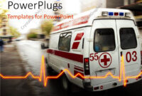 Powerpoint Template: An Ambulance With A Heartbeat Line And for Ambulance Powerpoint Template