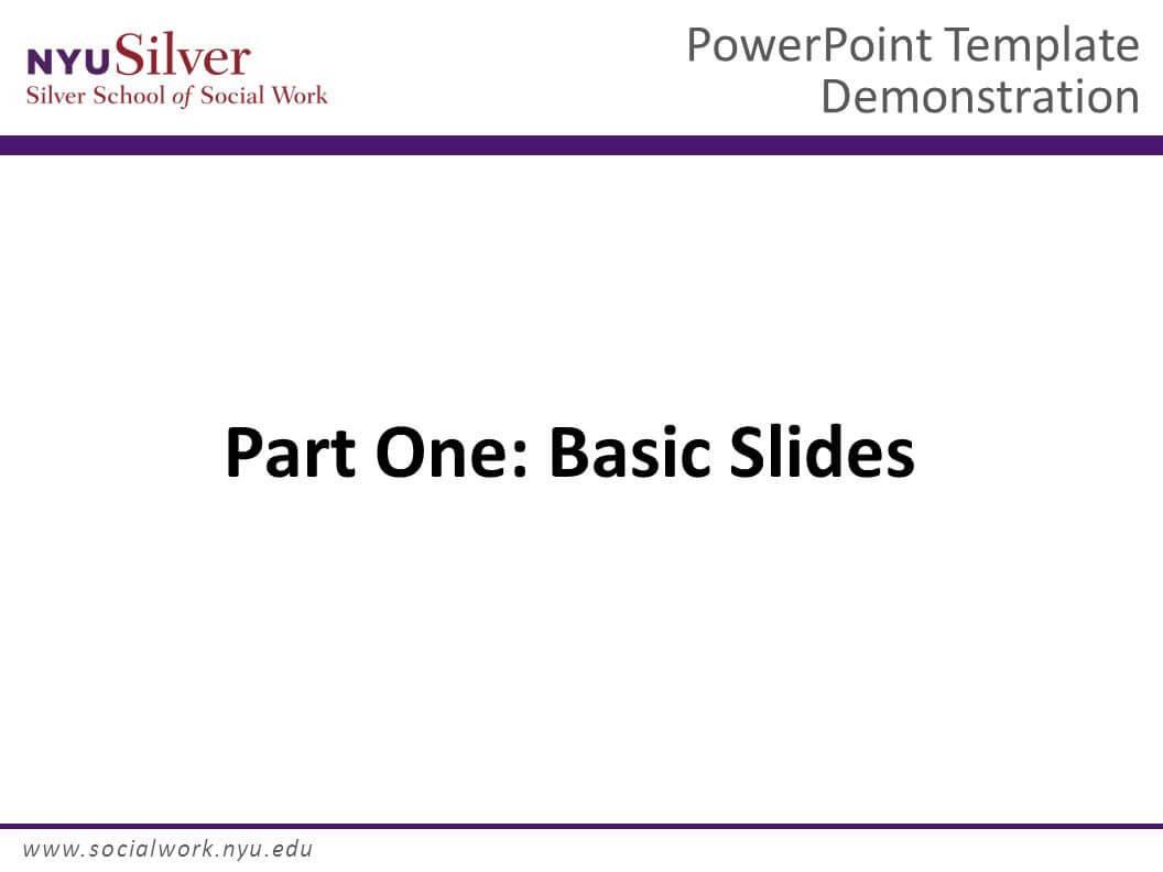 Powerpoint Template Demonstration Dr. John Smith Nyu Silver Intended For Nyu Powerpoint Template