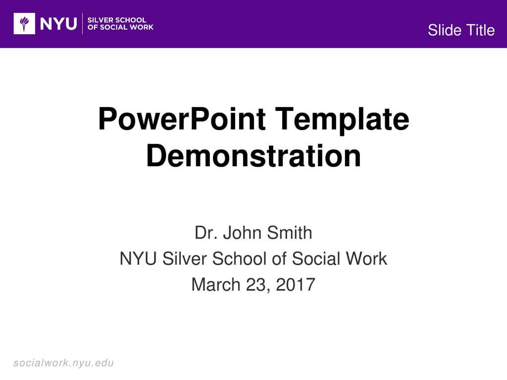 Powerpoint Template Demonstration – Ppt Download Regarding Nyu Powerpoint Template