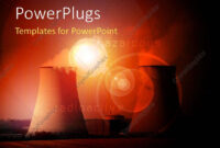 Powerpoint Template: Nuclear Power Station With Cooling intended for Nuclear Powerpoint Template