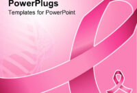 Powerpoint Template: Pink Ribbon For Fighting Breast Cancer for Breast Cancer Powerpoint Template