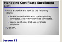 Ppt – Configuring Active Directory Certificate Services with regard to Update Certificates That Use Certificate Templates