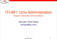 Ppt – Iti-481: Unix Administration Rutgers University in Rutgers Powerpoint Template