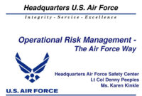 Ppt – Operational Risk Management – The Air Force Way with Air Force Powerpoint Template