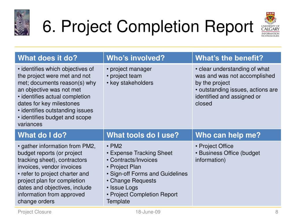 Ppt - Project Closure Powerpoint Presentation, Free Download With Project Closure Report Template Ppt