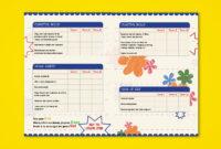 Pre-Nursery Report Card On Behance | School Report Card in Boyfriend Report Card Template
