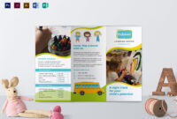 Pre School Brochure Template pertaining to Play School Brochure Templates