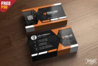 Premium Business Card Templates Free Psd – Psd Zone with Free Psd Visiting Card Templates Download