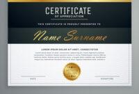 Premium Certificate Design Diploma Award Template for Award Certificate Design Template