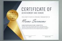 Premium Certificate Of Appreciation Award Design inside Award Certificate Design Template