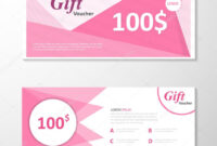 Premium Elegance Pink Gift Voucher Template Layout Design with regard to Pink Gift Certificate Template