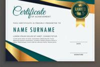 Premium Modern Certificate Template Design with Design A Certificate Template